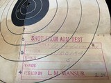 """COLT Woodsman 1st model Sport .22LR 4.5"""" Blue, Original box with papers and test target, Mfg 1937 AS NEW in box - 3 of 9"""