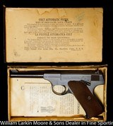 """COLT Woodsman 1st model Sport .22LR 4.5"""" Blue, Original box with papers and test target, Mfg 1937 AS NEW in box - 1 of 9"""