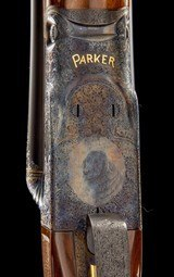 """PARKER REPRODUCTION A1 Special Special Order """"The Golden Retriever"""" 12ga 26"""" IC&M, Cased in O&L with overcase, AS NEW UNFIRED - 9 of 12"""