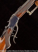 "WINCHESTER 1885 Hi Wall Deluxe Schutzen Rifle .32-40 32"" #5 weight, Full octagon matted barrel, Double set triggers, Palm rest, Tang sigt, Mfg 19"