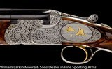 """BERETTA SO6 EELL 12ga 28"""" M&F, Exhibition wood, Fabulous engraving featuring relief ornimental and game scene cameos with birds in gold, leather - 4 of 9"""