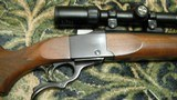 """Ruger No. 1 22-250, 24"""" heavy barrel with Simons 4-12x scope in Ruger rings on Ruger bases - 3 of 15"""