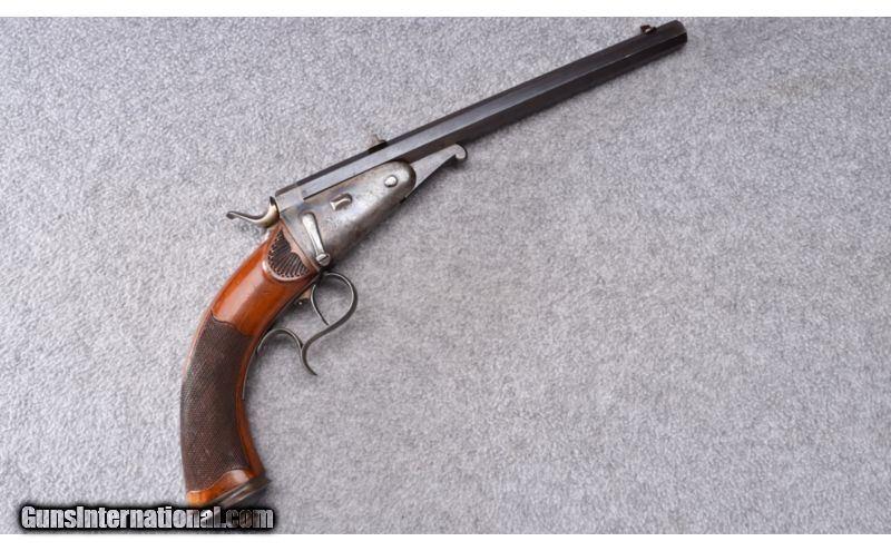 European ~ Single Shot Target Pistol ~  25 Cal  (Unknown
