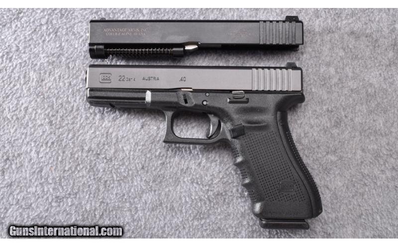 Glock ~ Model 22 Gen  4 ~  40 S&W with  22 LR Conversion Kit