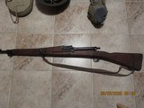 Replica I believe 1903 Spring field.World war 1-2? helmet, cantine and gas mask - 5 of 5