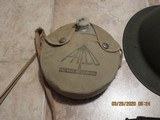 Replica I believe 1903 Spring field.World war 1-2? helmet, cantine and gas mask - 4 of 5