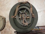 Replica I believe 1903 Spring field.World war 1-2? helmet, cantine and gas mask - 3 of 5