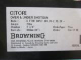 """Browning Citori Superlight FEATHER 20ga. 26"""" New in box - 5 of 6"""