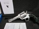"""Freedom Arms Model 83 Premier.44Mag. 4 3/4"""" ROUND Butt with Evergreen grips New."""