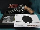 "Nighthawk Korth Mongoose revolver 4"" Walnut grips 100% with box"