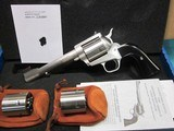 """Freedom Arms Model 83 Premier Triple Cylinder .454 casull/.45LC/.45Acp 6"""" New in box"""