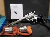 """Freedom Arms Model 83 Premier Triple cylinder .454Casull/.45LC/.45acp6""""new in box"""