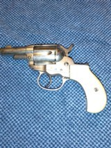 "Colt Lightning 38 Model 1877 2 1/2"" Etched Panel Nickel"