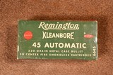 Remington Kleanbore 45 Automatic