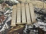 Set of 5 Original Factory Glock 19x 9mm 17rd Mags