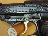 WALTHER P38 9MM FACTORY ENGRAVED PISTOL IN CASE (INVENTORY#9894)