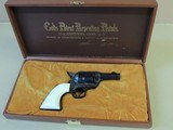 COLT SAA SHERIFFS MODEL 44-40 REVOLVER WITH IVORY GRIPS (INVENTORY#10009)