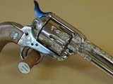 COLT FACTORY ENGRAVED CUTAWAY SINGLE ACTION ARMY .45LC (INVENTORY#9854) - 3 of 7