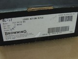 BROWNING BL 17 .17 MACH 2 LEVER ACTION RIFLE IN BOX (INVENTORY#10290) - 9 of 9