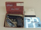 WALTHER WEST GERMAN PPK .32 ACP IN BOX (INVENTORY#10331)