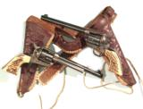 PAIR OF PRE-WAR COLT S.A.A. REVOLVERS FROM THE COLLECTION OF C.B. HOGG JACKSON