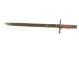WWII JAPANESE BAYONET W/ BAMBOO SCABBARD & FROG