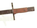 WWII JAPANESE BAYONET W/ BAMBOO SCABBARD & FROG- 6 of 6