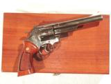 S&W MODEL 29 REVOLVER WITH FACTORY NICKEL FINISH