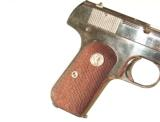 COLT MODEL 1908 NICKEL FINISH AUTO PISTOL IN .380 CALIBER WITH IT'S FACTORY BOX - 6 of 9