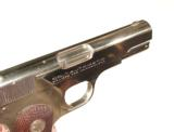 COLT MODEL 1908 NICKEL FINISH AUTO PISTOL IN .380 CALIBER WITH IT'S FACTORY BOX - 8 of 9
