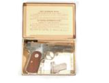 COLT MODEL 1908 NICKEL FINISH AUTO PISTOL IN .380 CALIBER WITH IT'S FACTORY BOX - 1 of 9