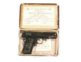 COLT MODEL 1903 HAMMERLESS AUTOMATIC PISTOL WITH FACTORY BOX