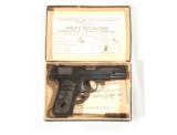 COLT MODEL 1908 HAMMERLESS AUTOMATIC IN .380 CALIBER IN IT'S FACTORY BOX - 1 of 11