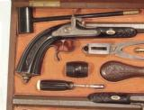 MAGNIFICENT CASED PAIR OF FRENCH PERCUSSION PISTOLS - 4 of 20