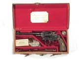 COLT POLICE POSITIVE TARGET WITH COLT LONDON AGENCY LEATHER CASE, 1st YEAR MFG