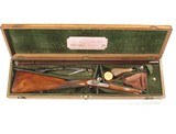 "CASED ENGLISH PERCUSSION SPORTING RIFLE BY ""REILLY, L.ONDON"""