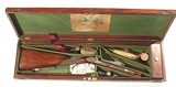 "EARLY PERCUSSION SPORTING (PARK) RIFLE BY ""JAMES PURDEY"" IN IT'S ORIGINAL MAHOGANY