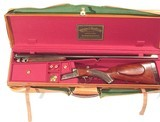 WEBLEY & SCOTT DOUBLE RIFLE IN .250-3000 CALIBER IN IT'S ORIGINAL LEATHER CASE - 1 of 12