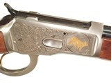 """BROWNING MODEL 65 """"HIGH GRADE"""" LEVER ACTION ENGRAVED RIFLE IN .218 BEE CALIBER - 1 of 10"""
