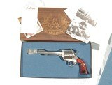 FREEDOM ARMS SINGLE ACTION ARMY IN .454 CASULL NEW IN IT'S FACTORY BOX