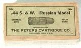"PETERS CARTRIDGE CO."" .44 S&W RUSSIAN MODEL""CARTRIDGES50 COUNT"