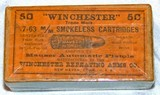 SEALED BOX OF WINCHESTER MFG.7.63mm (30 MAUSER) CARTRIDGES