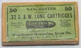 WINCHESTER MFG. BOX OF 50 S&W .32 LONG CARTRIDGES
