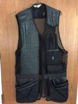 Vintage Bob Allen Leather trimmed Shooting Vest XL