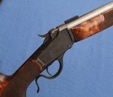 Hal Hartley Stocked – Winchester 1885 Low Wall .25 222 Rimmed – Custom Varmint by H.W. Creighton