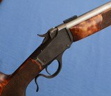 "Hal Hartley Stocked – Winchester 1885 Low Wall - .25 .222 Rimmed ""Copperhead"" – Custom Varmint by H.W. Creighton"