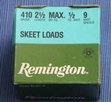 REMINGTON - .410 Skeet - AMMO - Full Case - 500 rounds !
