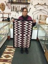 Authentic Navajo Rug by Shirleen Blackwater, Eye Dazzler Pattern