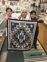 Authentic Navajo Rug, by Cecelia Dee, Two Grey Hills Pattern