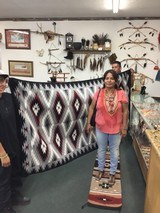 Authentic Navajo Rug, by Coralina Yellowhorse, Eye dazzler Pattern